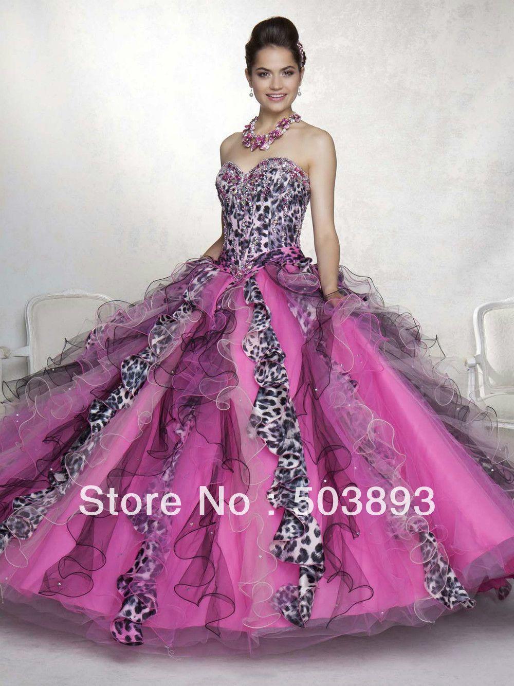 imagenes de vestidos de xv años de cebra balón vestido de leopardo ...