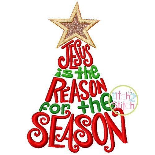 Christmas Jesus is the Reason for the Season Tree - 4x4, 5 ...