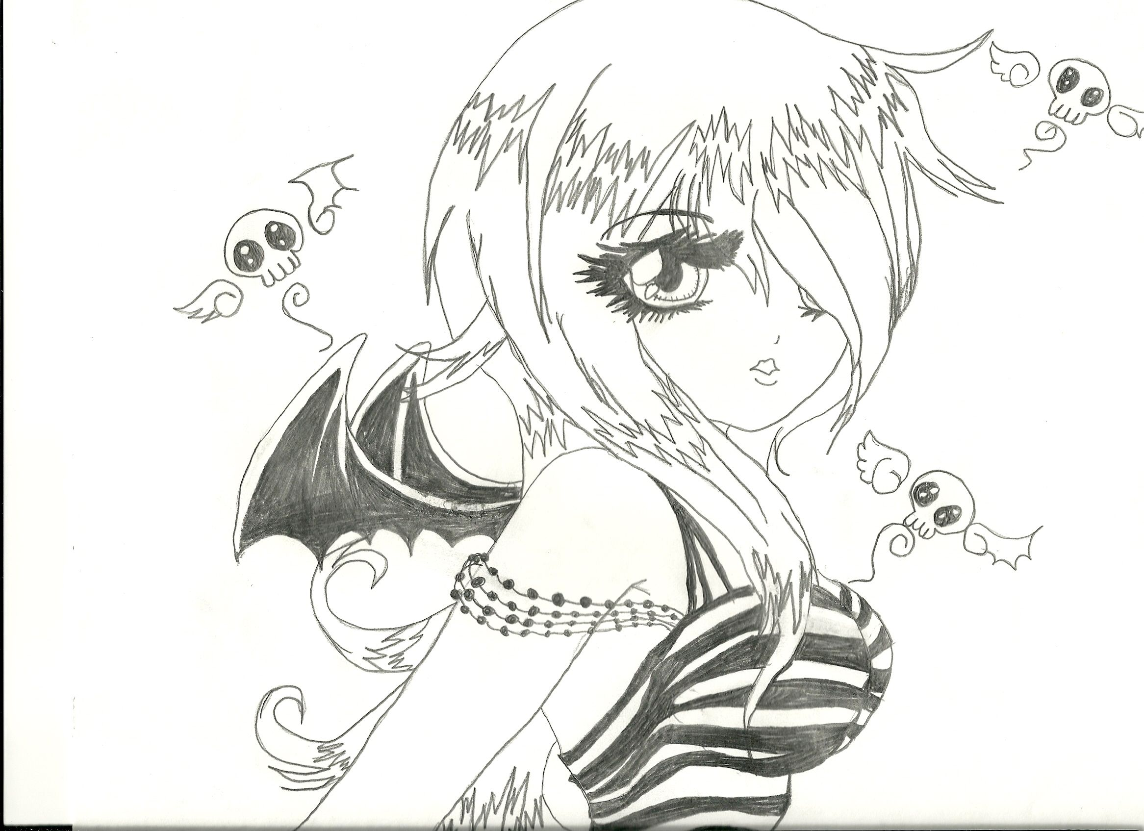 Anime Demon Girl 1 000000030380 1 Jpg 2333 1695 Anime Anime Drawing Styles Chibi Coloring Pages