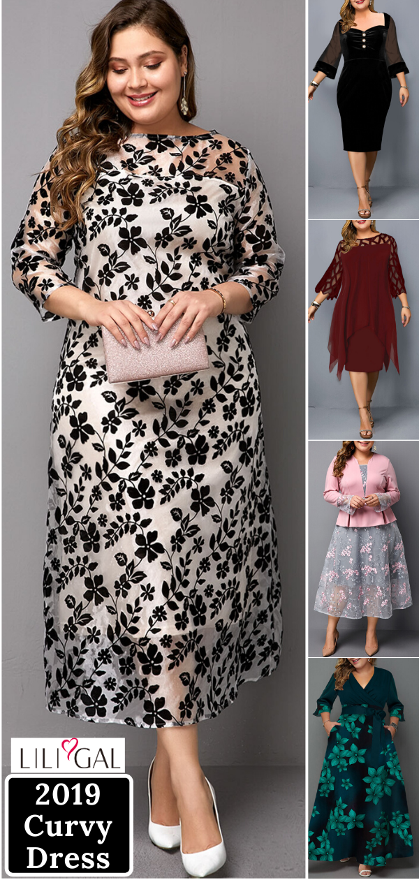 Photo of plus size winter dress for curvy girls ~