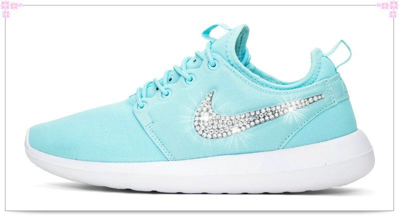 Over 70% Discount Off Popular 2017 Fashion glitter kicks Nike Roshe Two Crystallized  Swarovski Swoosh