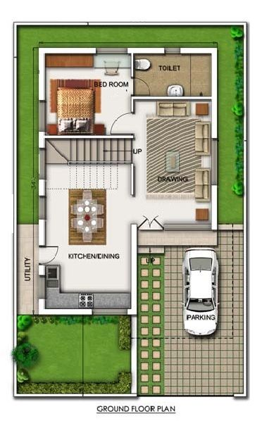 Sample Front Elevation Map : Duplex floor plans indian house design map front elevation
