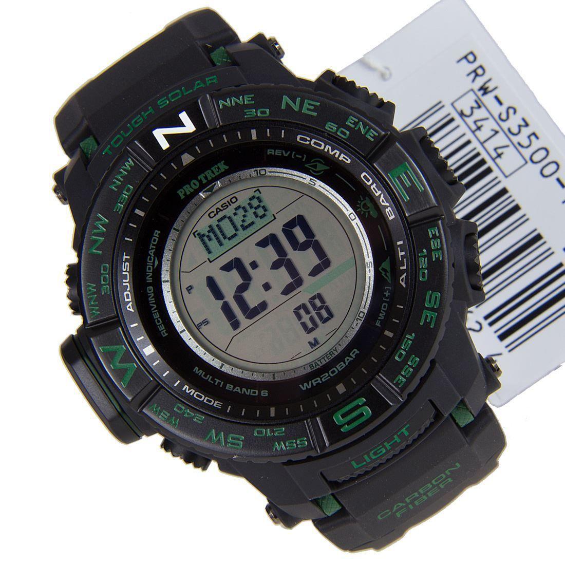 Casio PRWS35001DR Protrek Triple Sensor Watch Casio