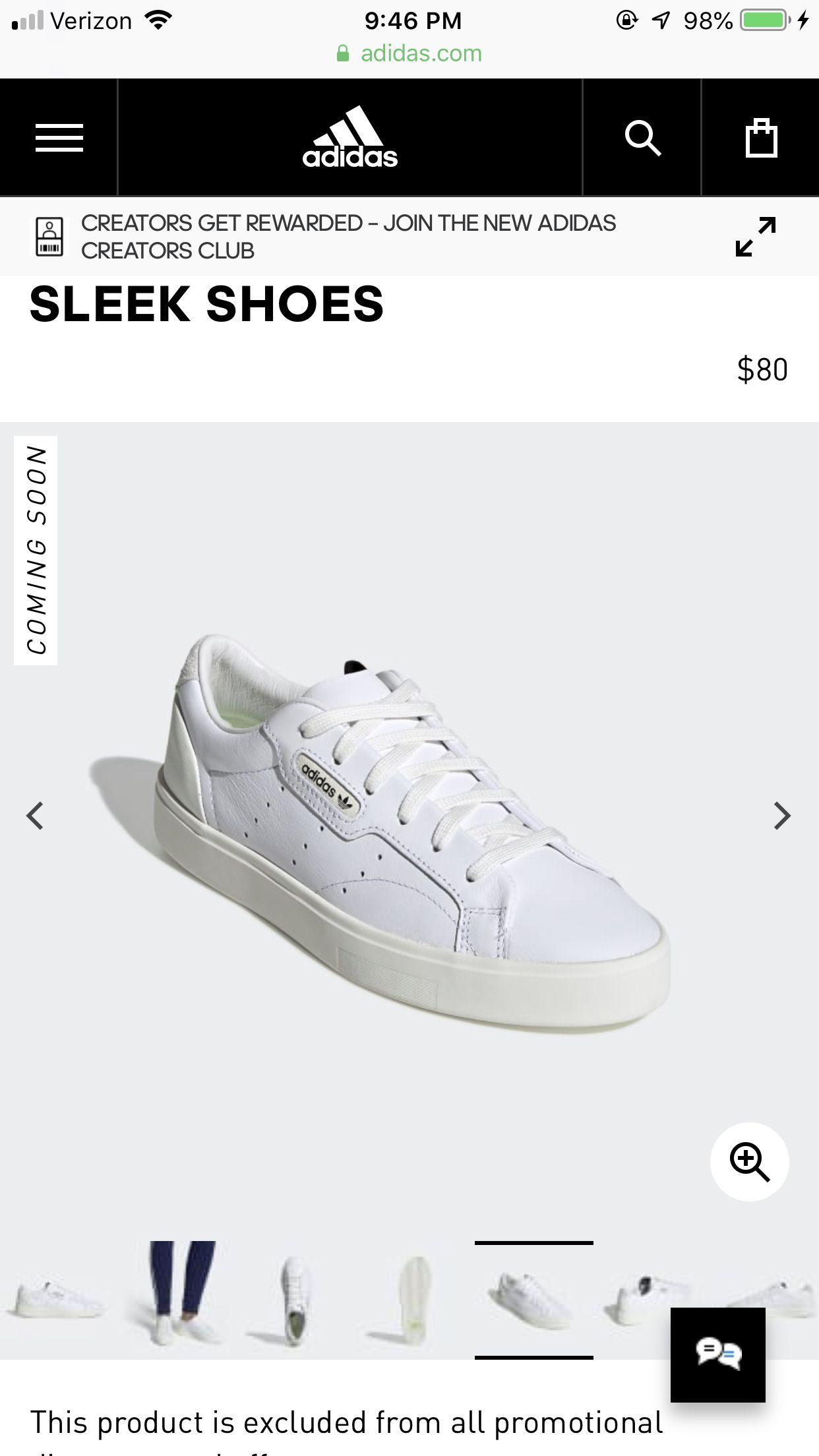 Sleek Shoes White 10 Womens  09634af1d
