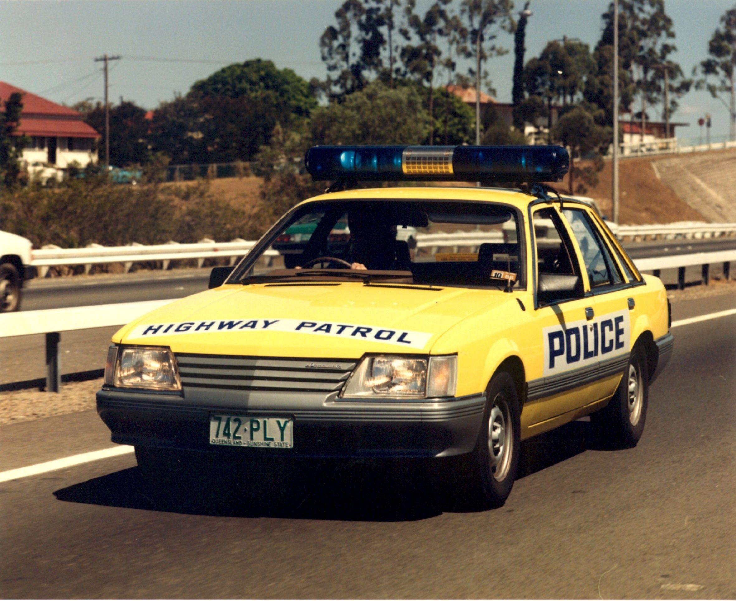 Highway Patrol Vehicle Queensland Australia Vintage
