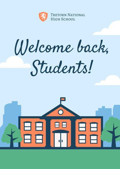 Vector Welcome Back to School Poster