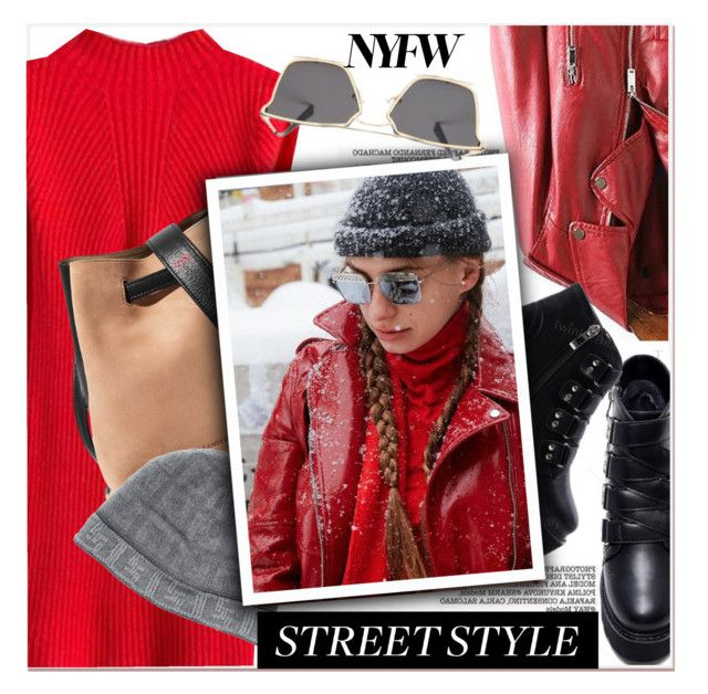 """""""NYFW Street Style: Day One"""" by paculi ❤ liked on Polyvore featuring Jil Sander, Fendi, StreetStyle and NYFW"""