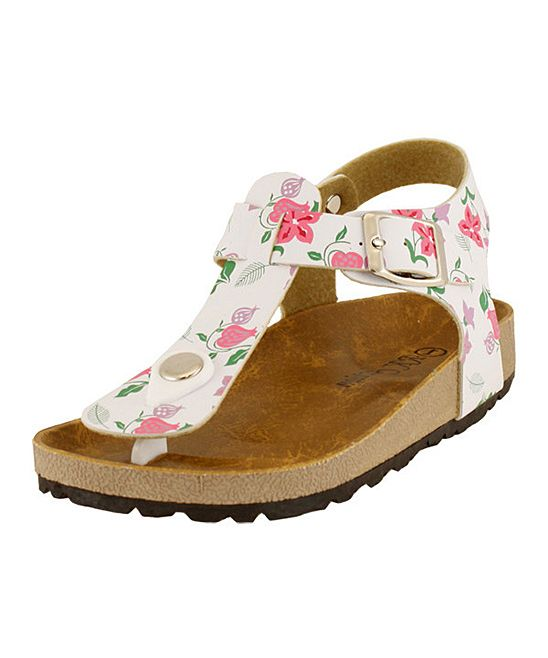 Fuchsia Floral T-Strap Sandal | Daily deals for moms, babies and kids