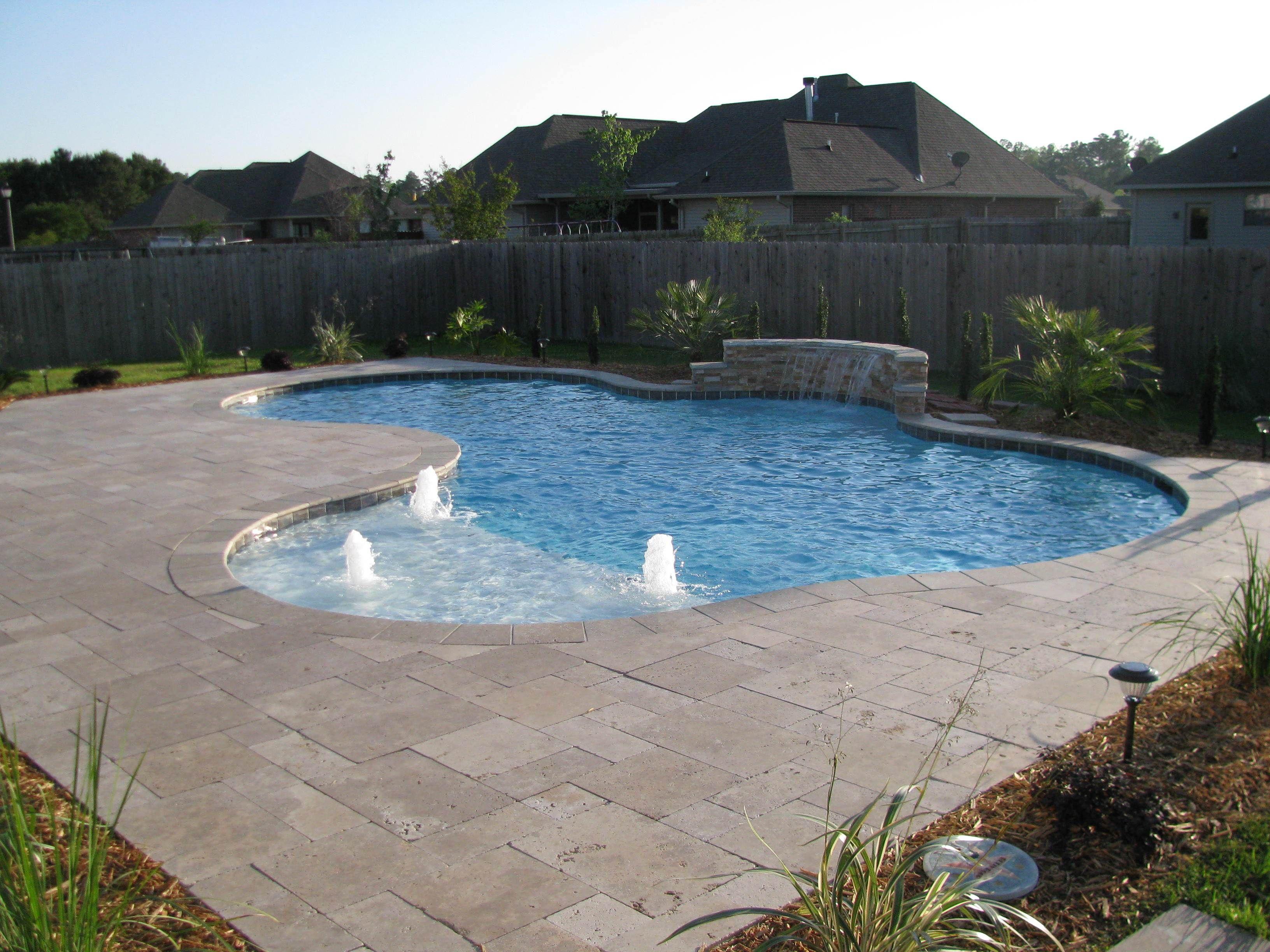 Madisonville swimming pool Inground pools, Backyard pool