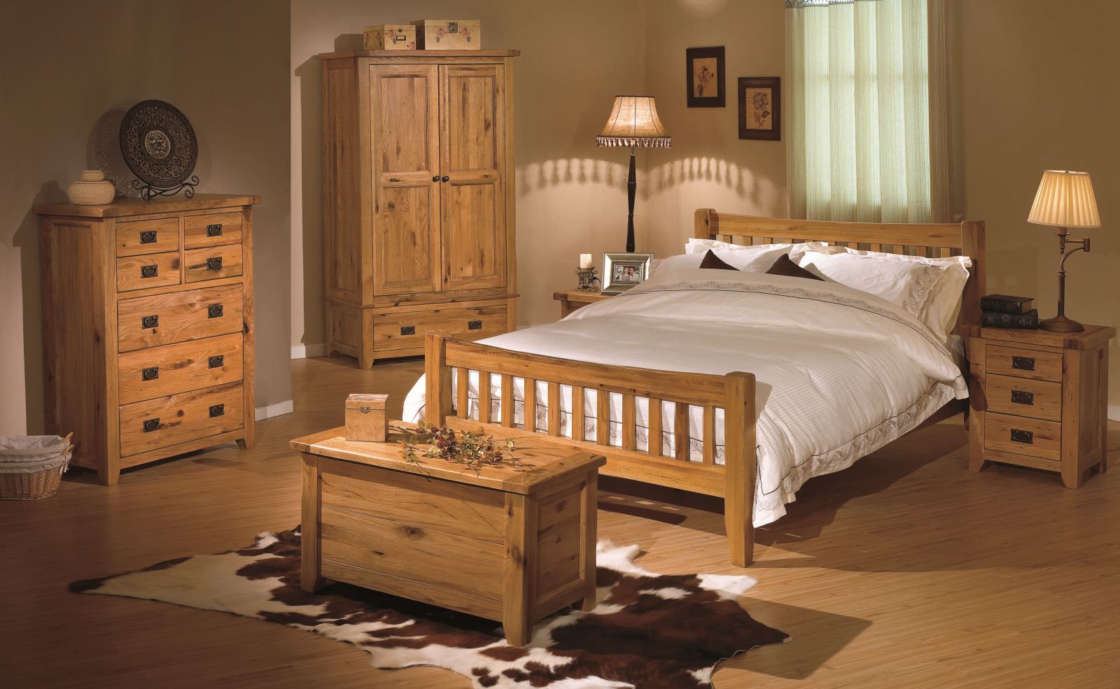 Highly sprung trade rustic oak bedroom furniture beds at trade