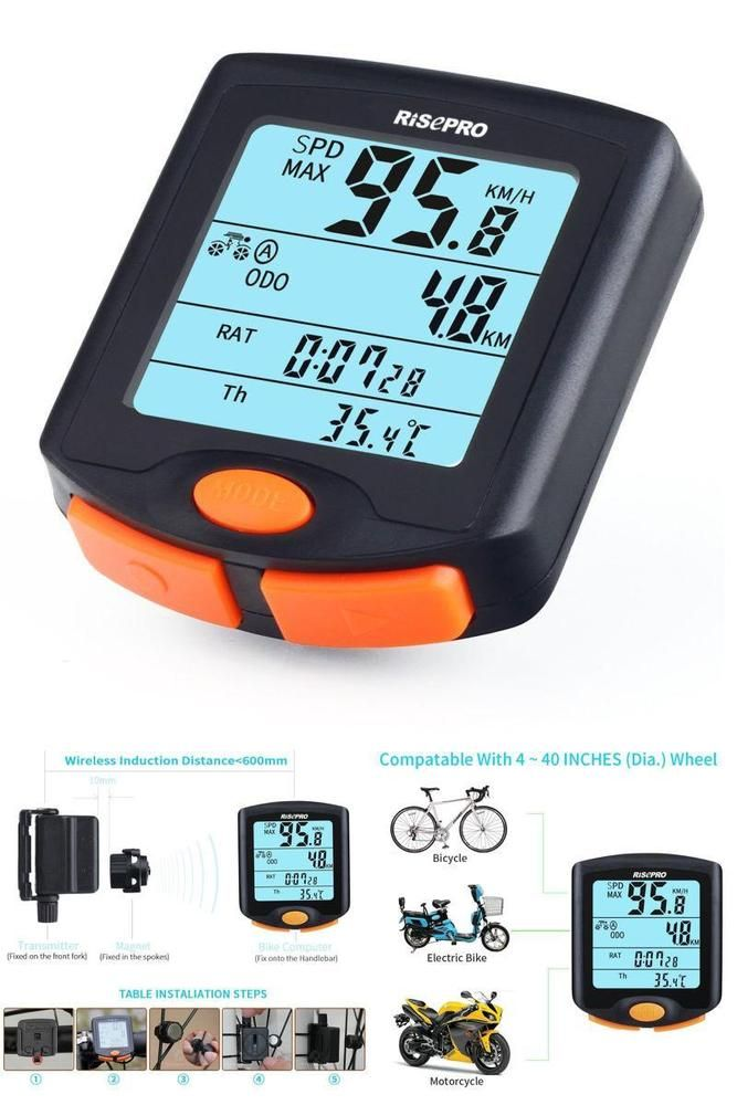 Bike Wireless Computer Speedometer Bicycle Odometer Cycle