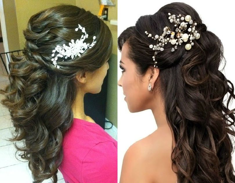 Hair Style Indian Bridal Reception Hairstyles Party HairstylesBridal HairstylesIndian