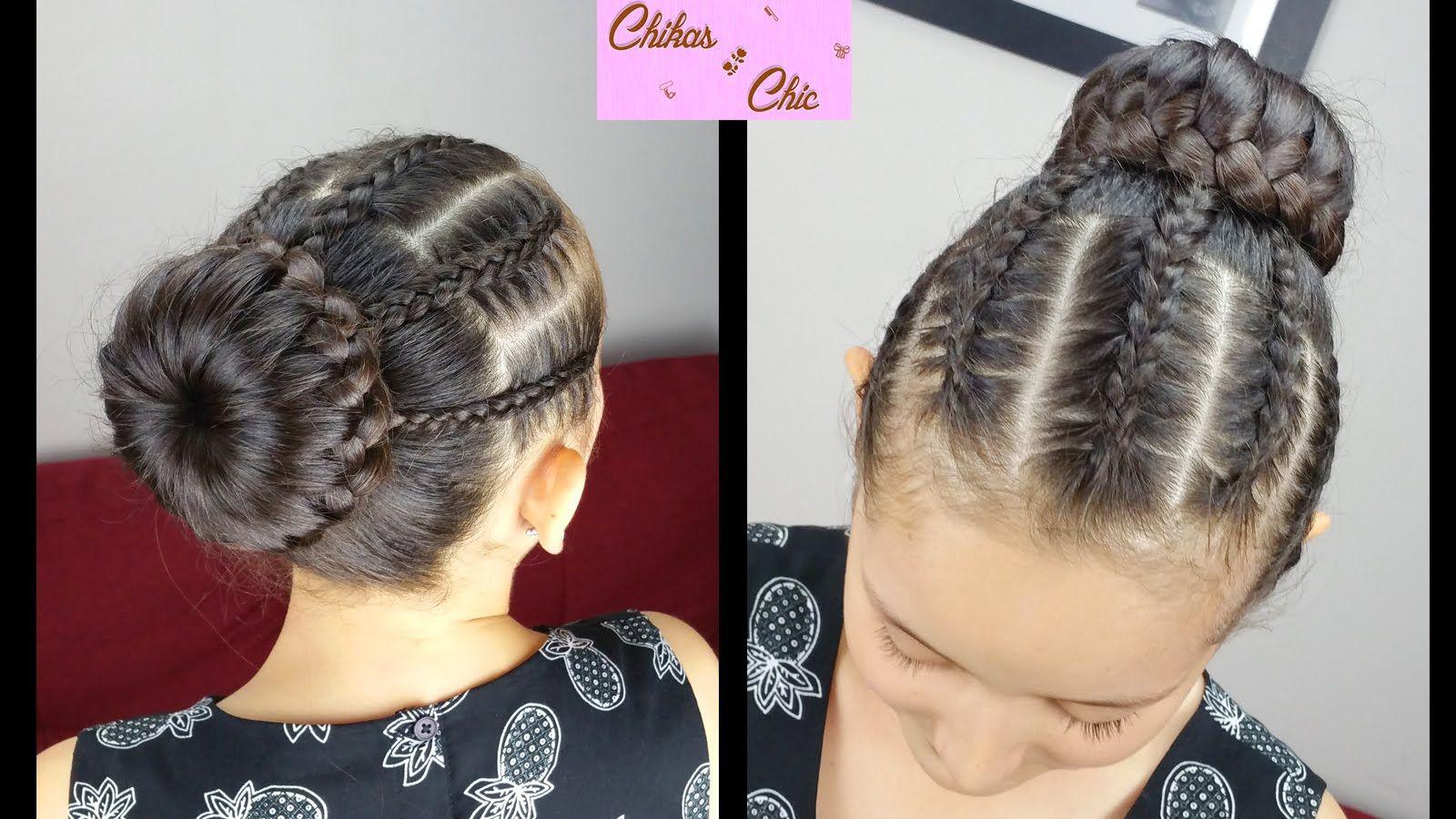 Diadema Y Donatrenzadas Braided Headband Bun Peinados