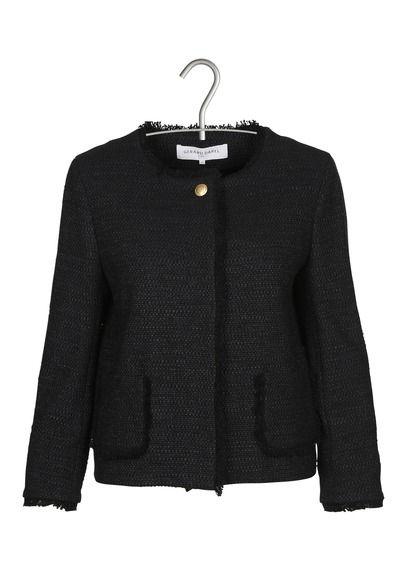 T40 E-shop Gerard Darel - Veste Caro En Tweed Noir Gerard Darel pour femme