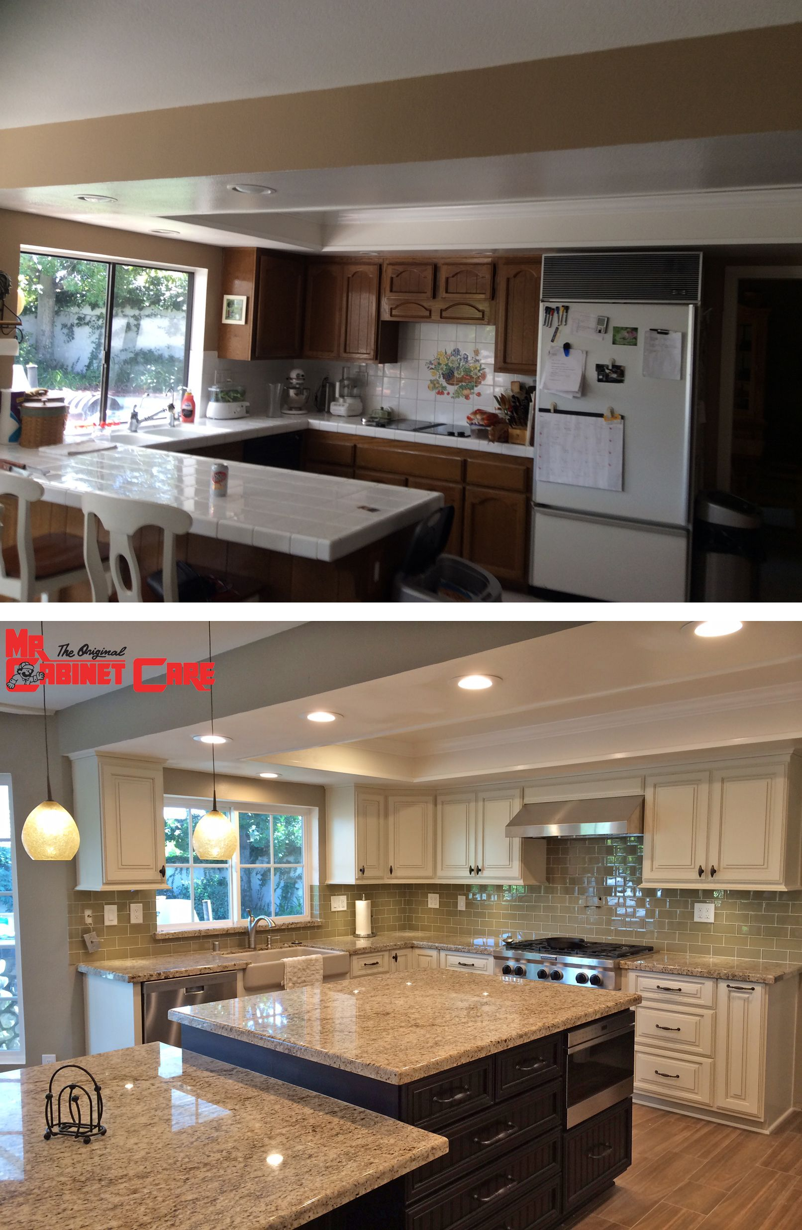 Before After Of A Kitchen Remodel In Yorba Linda Ca Kitchen Kitchenremodeling Kitchen Renovation Before After Kitchen Kitchen Remodel