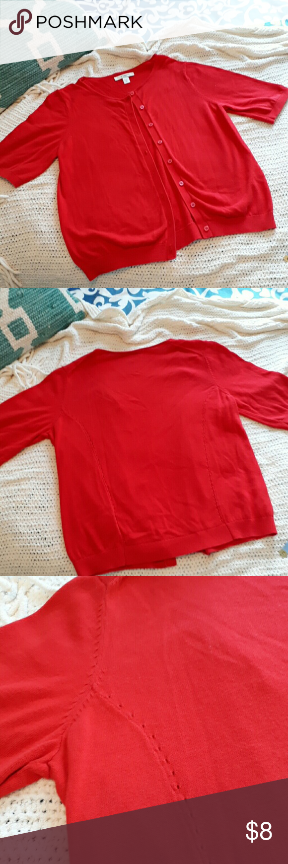 Liz Claiborne sweater | Liz claiborne, Red sweaters and Customer ...