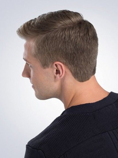 The Classic Clipper Cut With Rounded Neckline Is Easy To Maintain