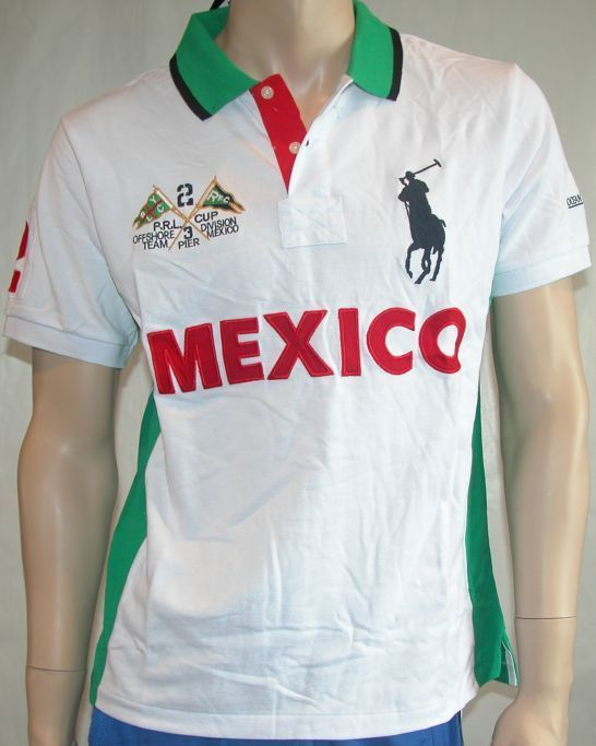new mens Ralph Lauren Big Pony Polo Shirt Mexico size Large  RalphLauren   PoloRugby 150070fa7ca7