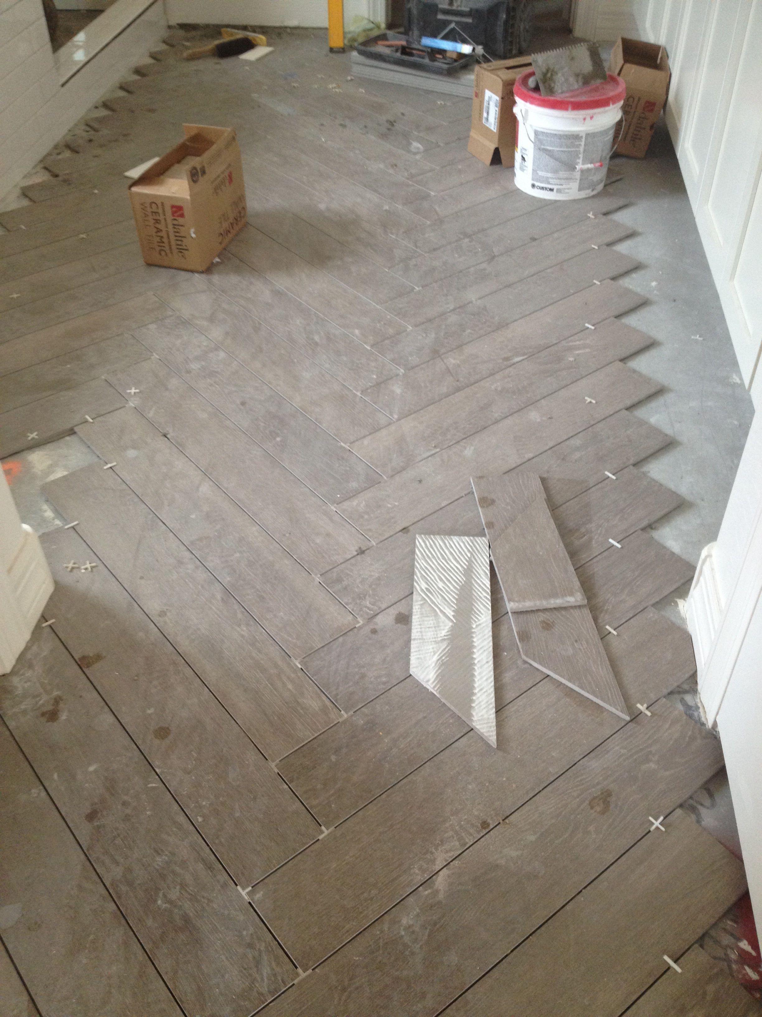 Traditional White Oak European Herringbone Panels