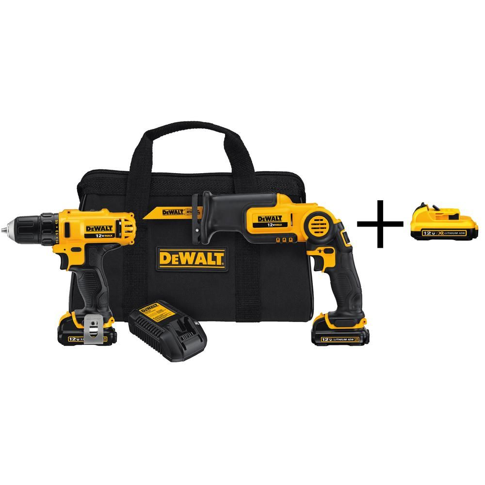 Dewalt Xtreme 2 Tool 12 Volt Max Brushless Power Tool Combo Kit With Soft Case In 2020 Dewalt Power Tools Drill Cordless Drill