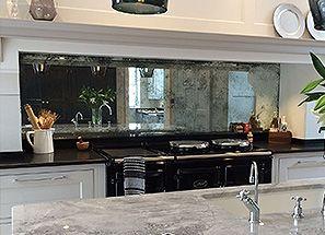 Original Vintage Style Antique Mirror Splashback Kitchen