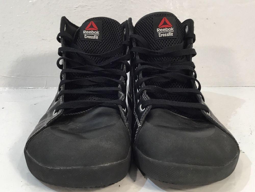 fc5079568f3837 Reebok 010 CrossFit Lite TR Mens 10.5 Powerlifting High Top Training Shoes   Reebok  AthleticSneakers