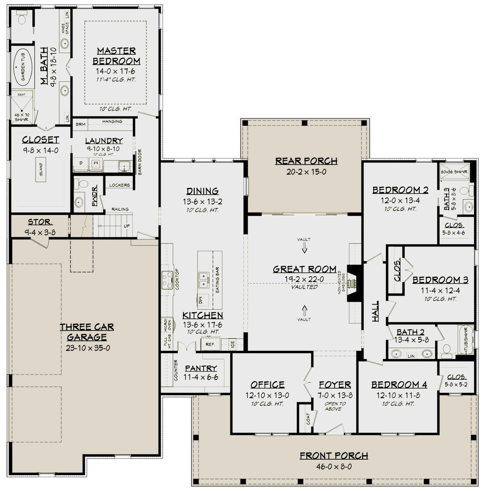 House Plan 041 00179 Modern Farmhouse Plan 2 926 Square Feet 4 5 Bedrooms 3 5 Bathrooms New House Plans House Plans Farmhouse Farmhouse Style House