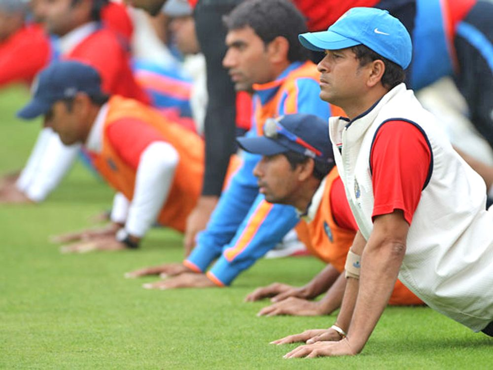 Sachin Tendulkar was  amongst the fittest Indian cricketers during his time. (AFP)