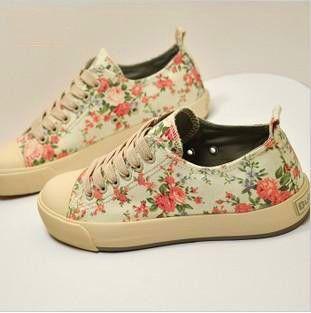Aliexpress Com Buy Zapatillas Deportivas Mujer Women Fashion Floral Canvas Sneakers Korean Platform Sh Zapatillas Deportivas Mujer Zapatos Deportivos Zapatos
