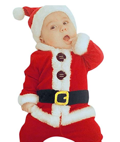 Boys Christmas Santa Outfit with Hat 3-6 months