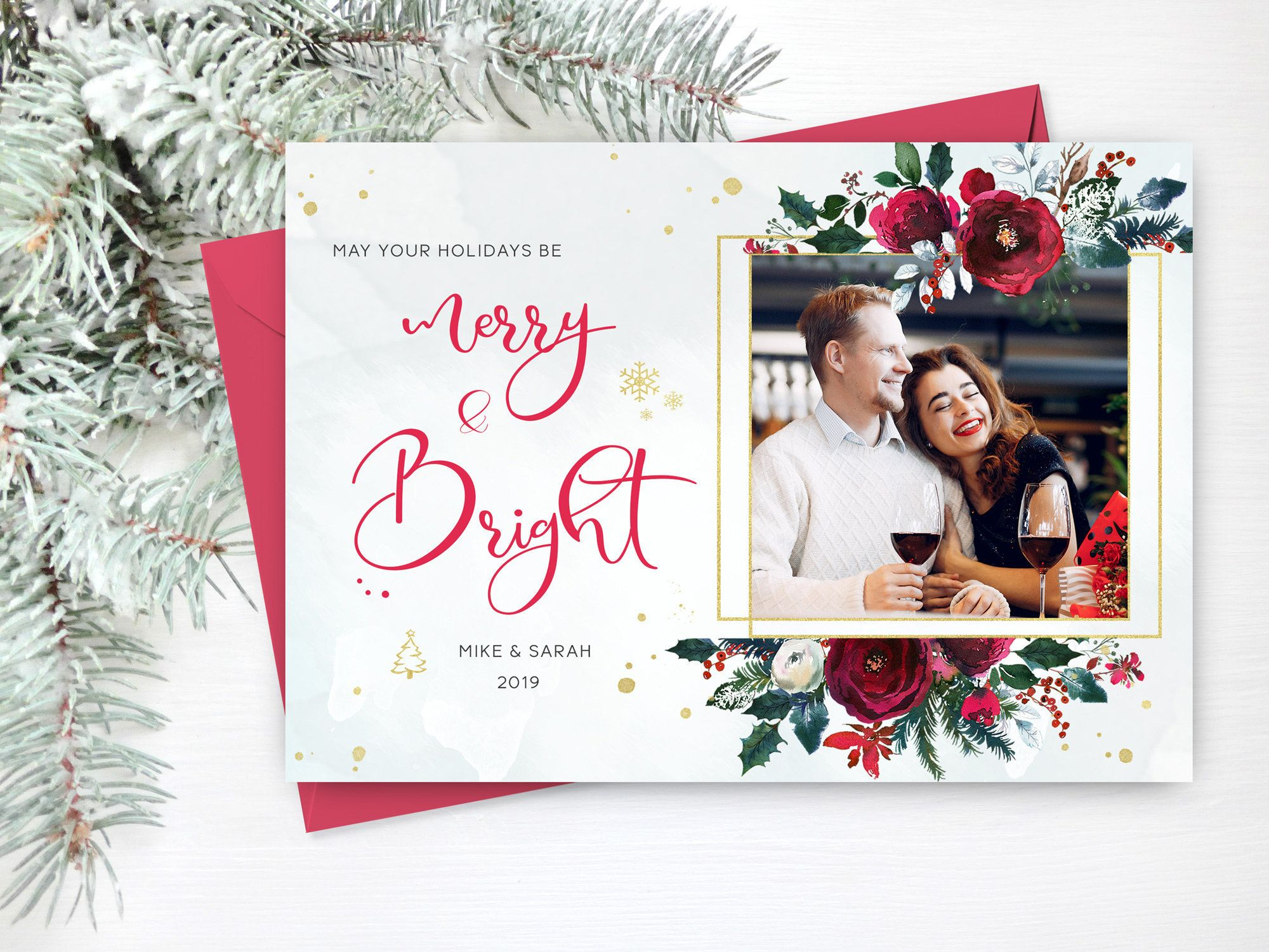 Printable Cards Printable Photo Card Holiday Photo Card Cards with Photos Family Greetings Photo Cards Family Cards Digital Cards