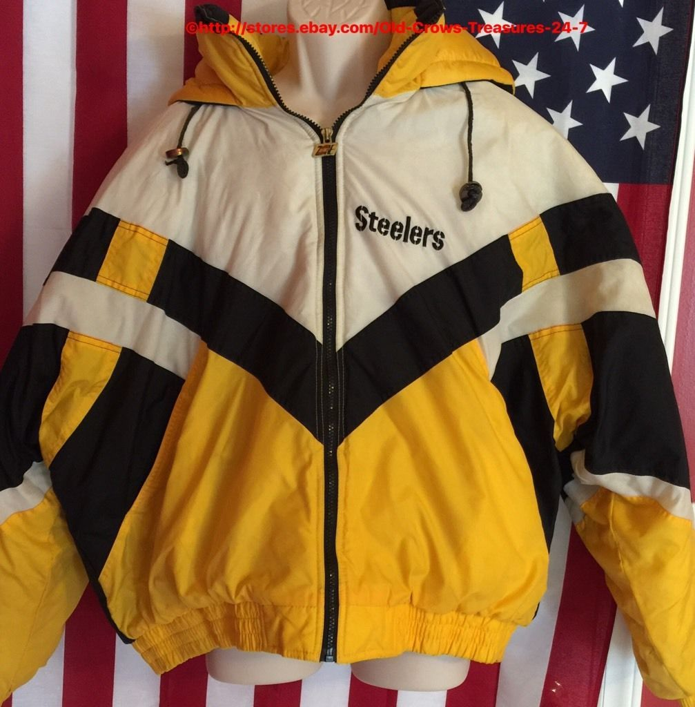 newest f439a 221d9 RARE Vintage Pittsburgh Steelers Turbo Zone NFL 2XL Parka ...