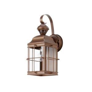 Heath Zenith New England Carriage 150-Degree Outdoor Antique Bronze Motion-Sensing Lantern-SL-4144-AZ at The Home Depot