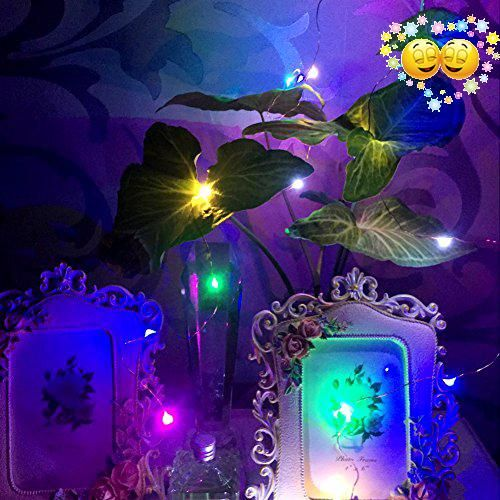 Purple Rope Lights Mesmerizing Gikfun 2M 20 Leds Battery Operated Mini Led Copper Wire String Fairy Decorating Design