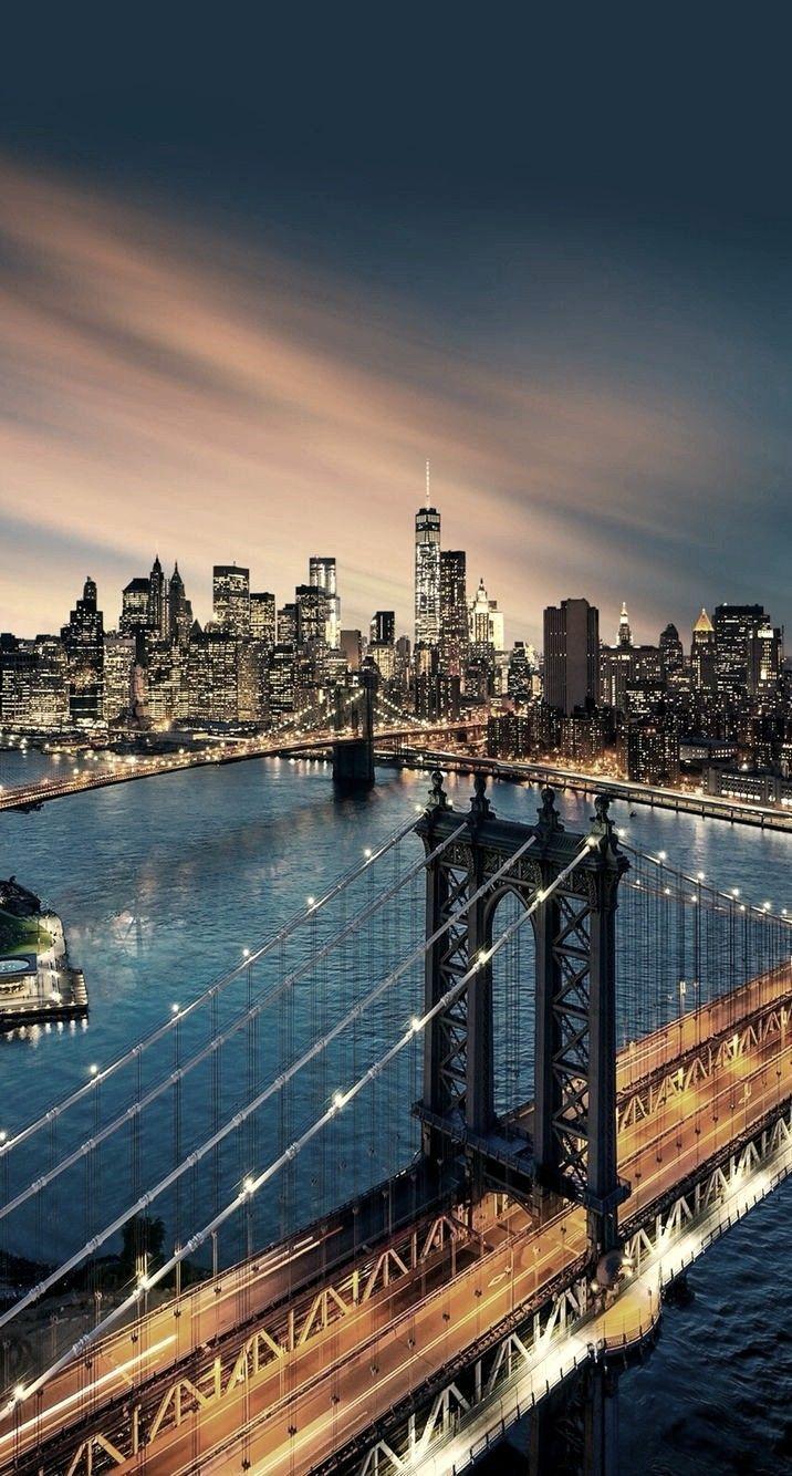 Manhattan Skyline Nyc Pinterest Radoslava Jakubikova Click Here To Download Belle Wallpapers New York Wallpaper Sunset Wallpaper City Wallpaper