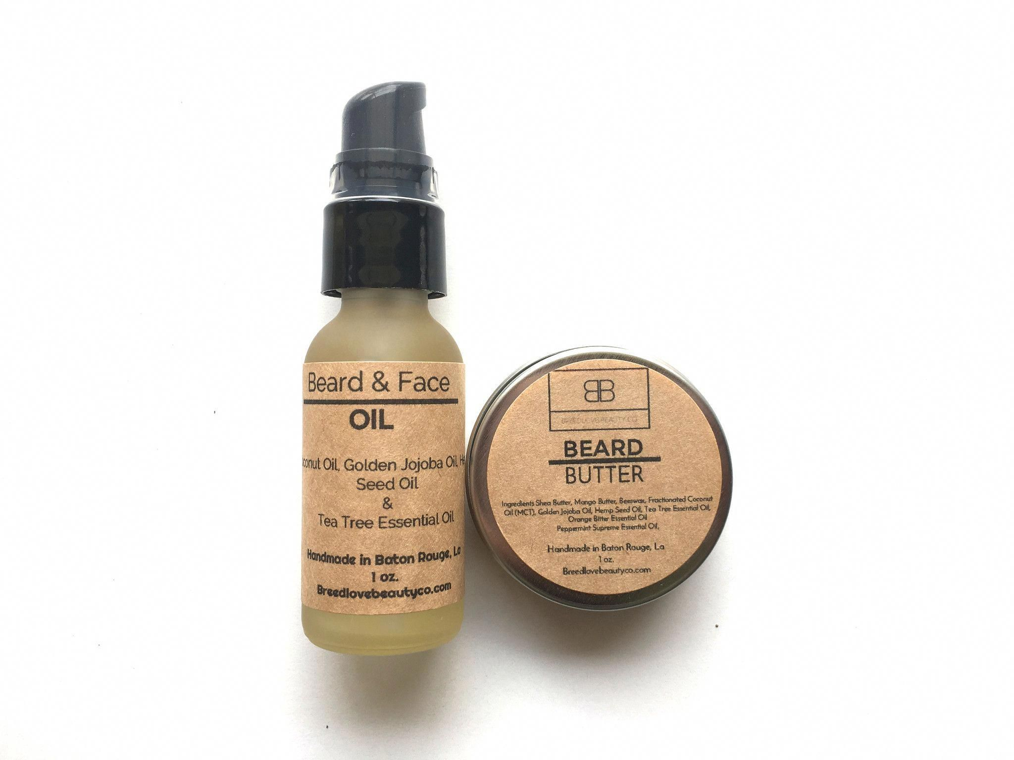 The Beau Set features our beard & face oil and beard butter
