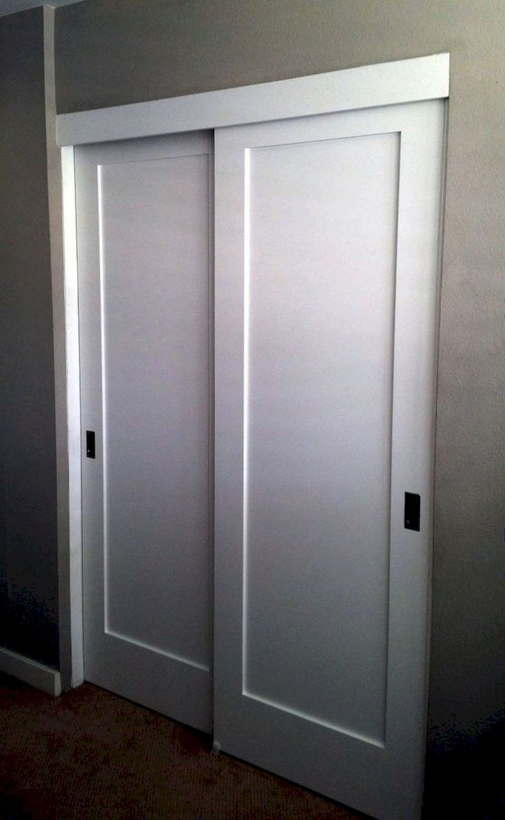 1 Panel Shaker Bypass Closet Doors Modern Closet Doors Closet Door Makeover Folding Closet Doors