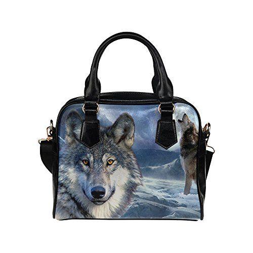 6e61f29678 Angelinana Custom Women s Handbag Wild Wolf on Iceberg Ho...