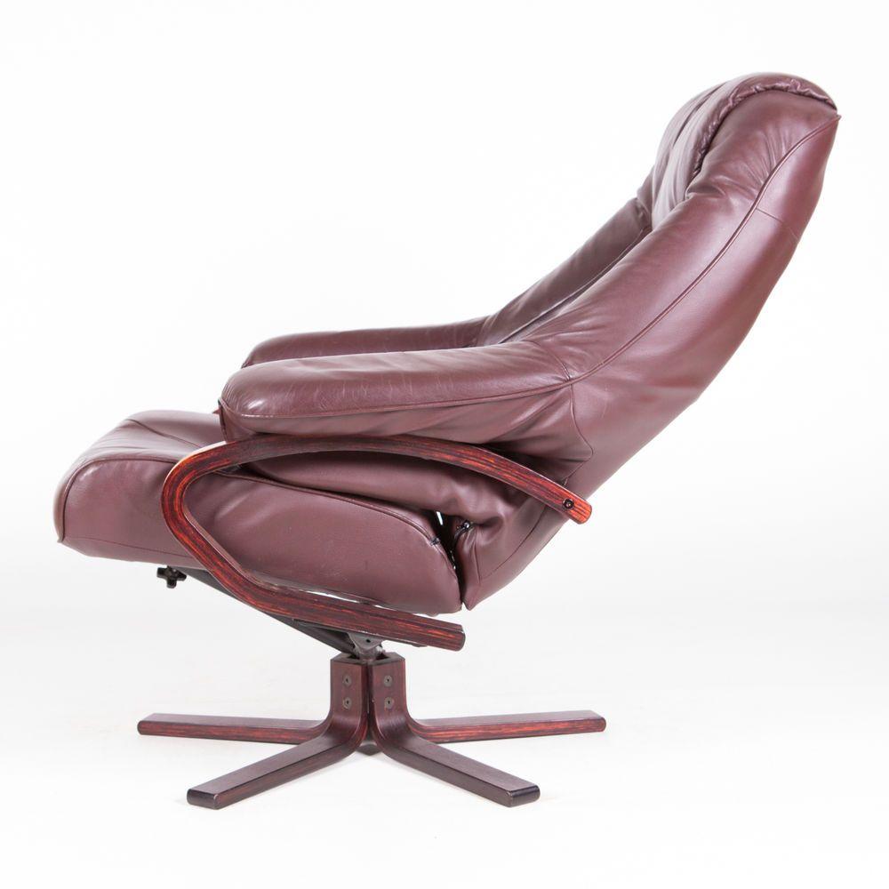 Retro Danish Armchair Leather Rosewood Lounge Egg Chair 1960s 70s Vintage  #ArtDeco #Armchairs