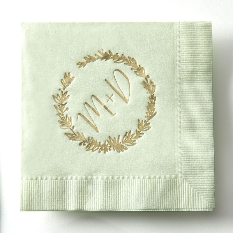 Wedding Napkins   Vintage Wedding Car Mark Art Productions Cute Cocktail Napkins for Weddings