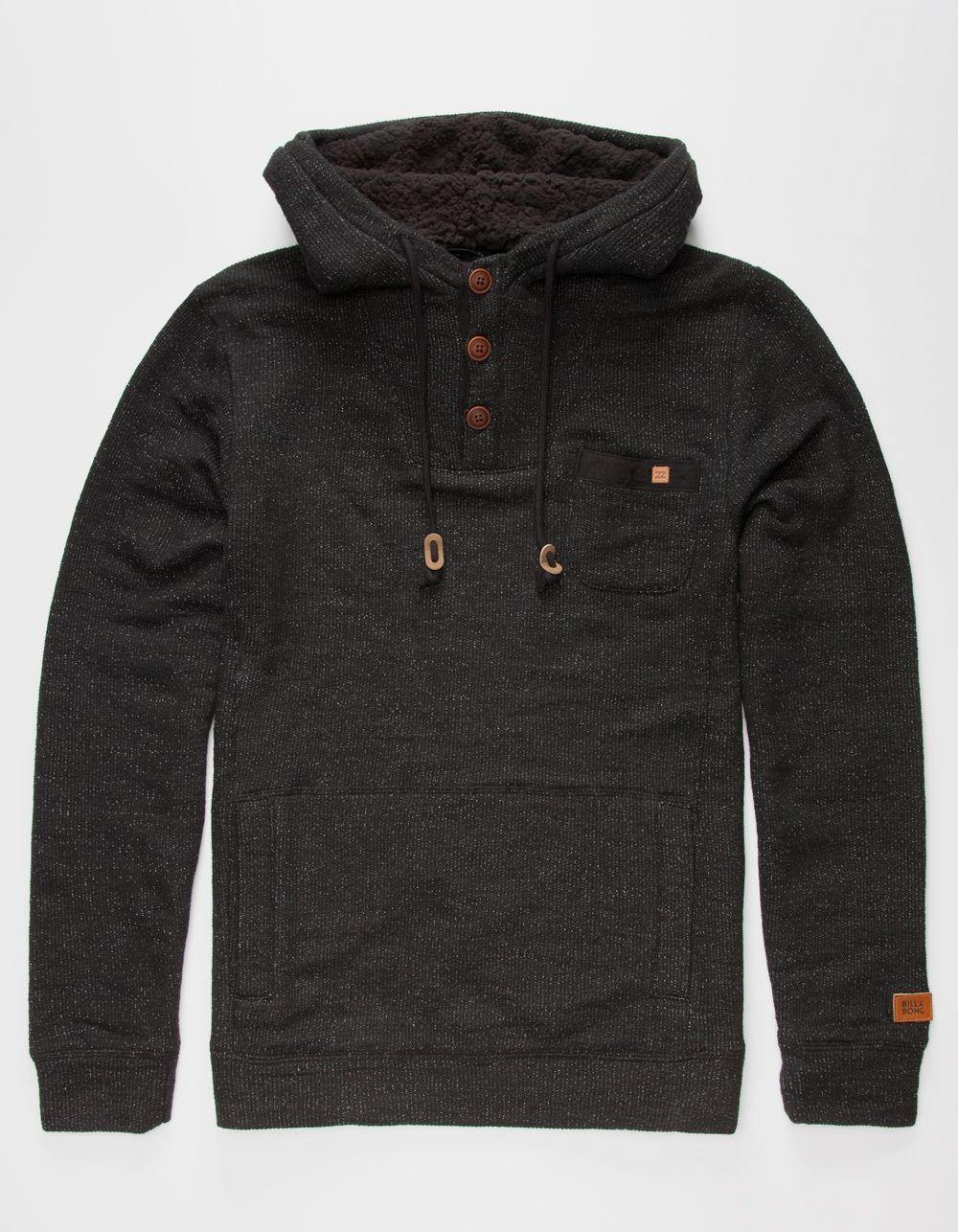 BILLABONG Rasta Mens Henley Hoodie 267806110 | Sweatshirts