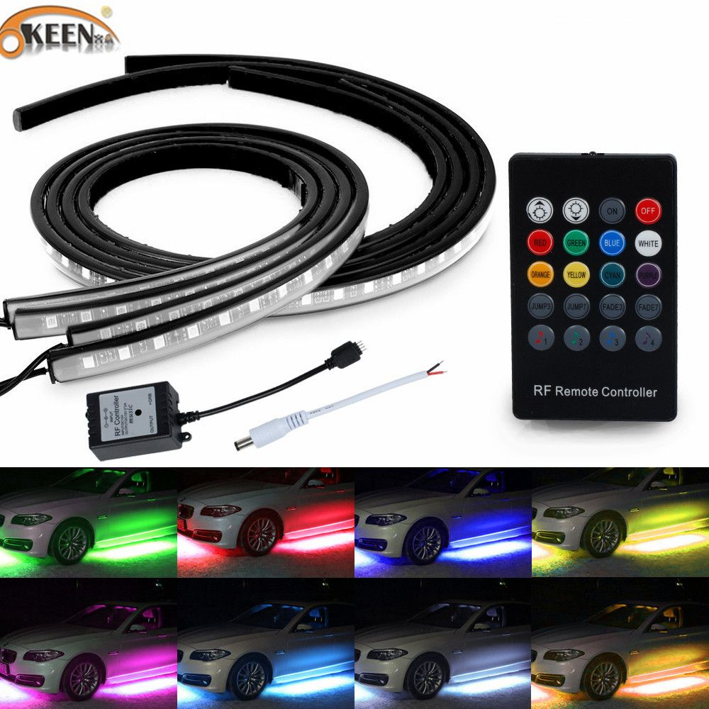 Led Light Strips For Cars Cool Under Car Lights  Check Price Okeen Under Car Light Strips Led Decorating Inspiration