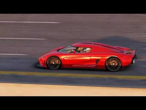 [VR] Koenigsegg Regera top speed run Nardo. 411 KM/H Helmet camera POV - YouTube