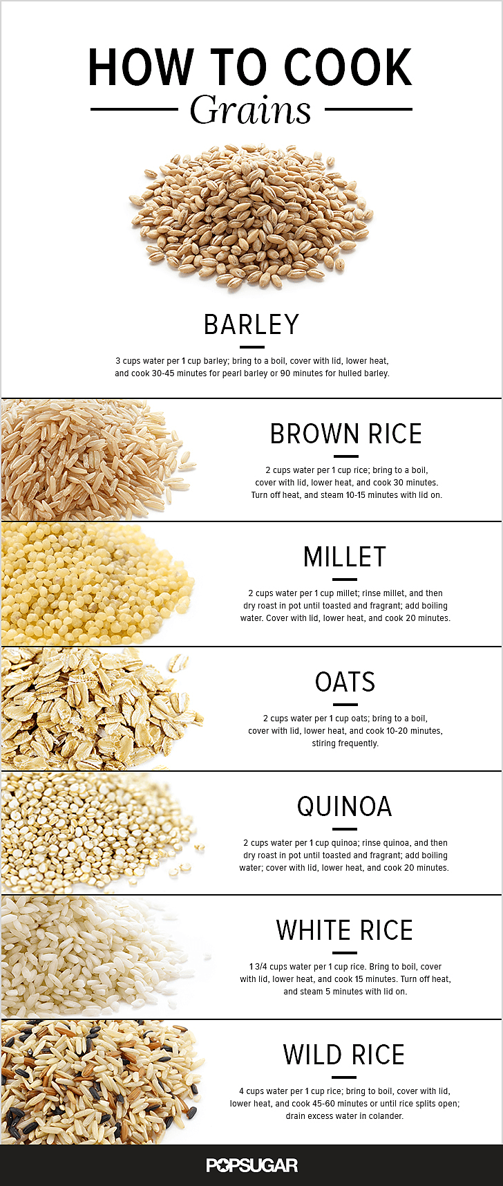 A Guide to Cooking Everything From Oats to Rice #cookingtips