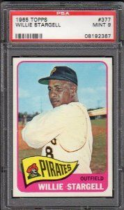 SUPERB 1965 TOPPS WILLIE STARGELL #377 PSA 9 MINT PIRATES BASEBALL CARD! by WhereTheyAint Price: $695.00
