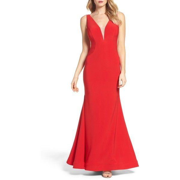 XSCAPE Mermaid Gown ($90) ❤ liked on Polyvore featuring dresses ...