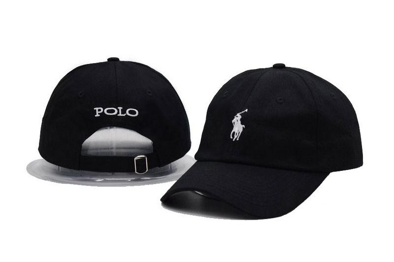 1a3bf2f5f3c Men s   Women s Polo Ralph Lauren Small Pony Embroidery Adjustable Dad Hat  - Black   White