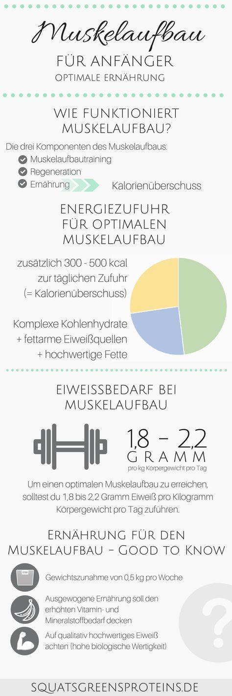 Ernährung für den Muskelaufbau - Muskelaufbau für Anfänger ...