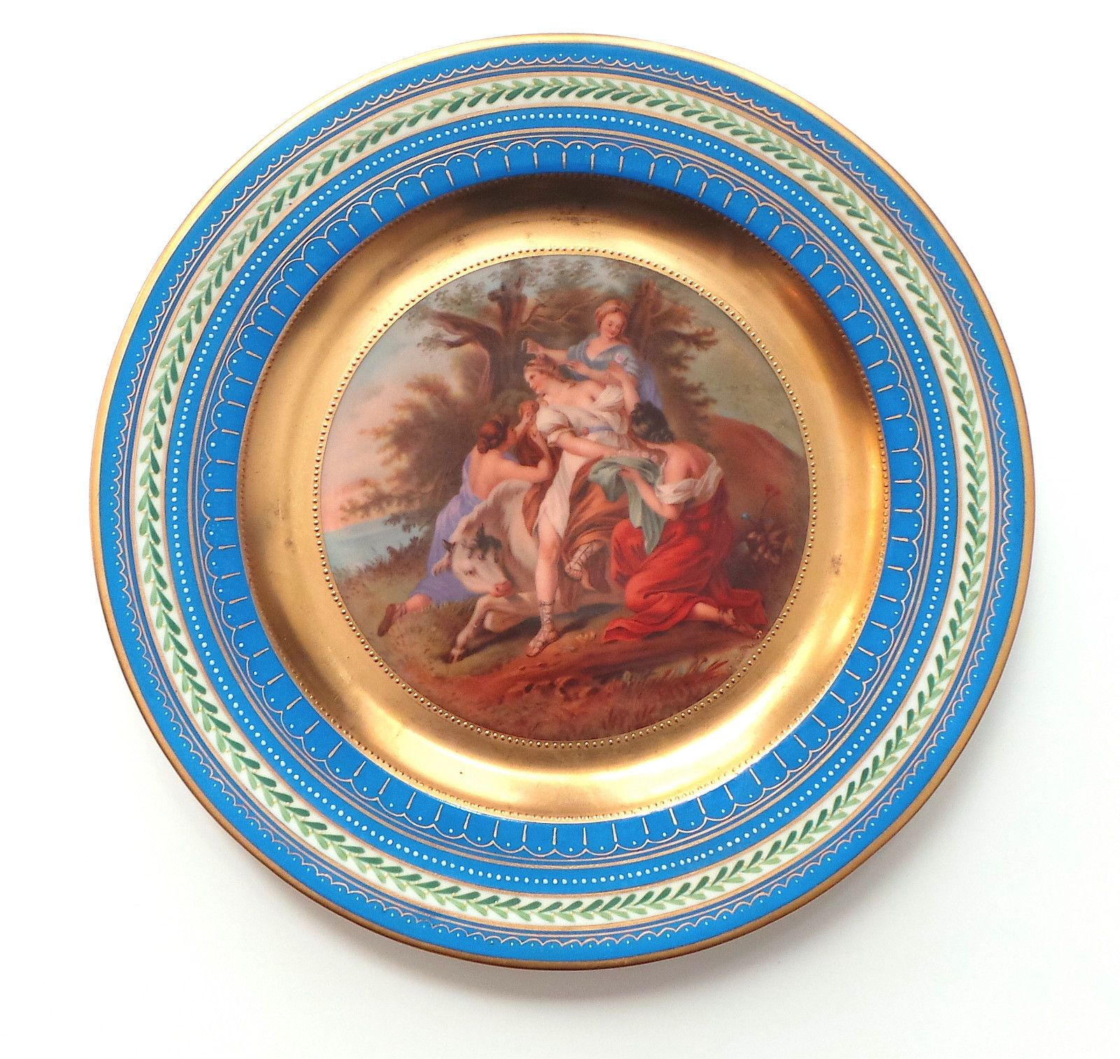 Antique Royal Vienna Large Plate The Rape of Europa No Reserve | eBay