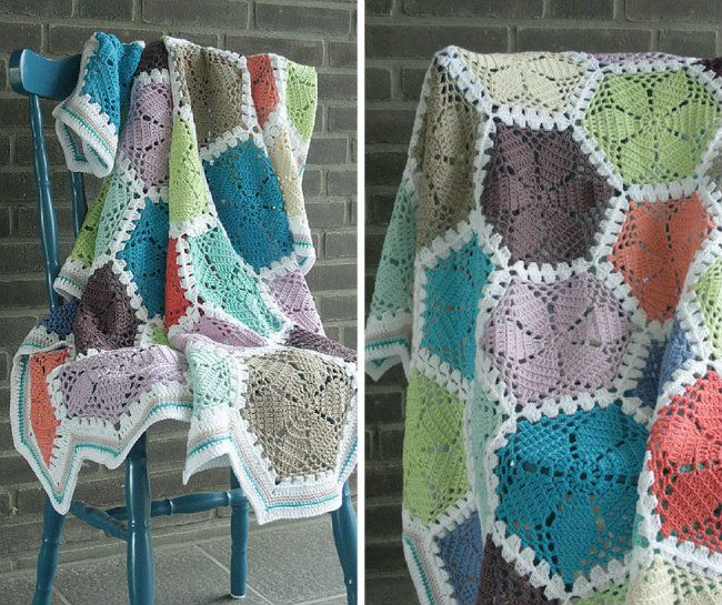 6 crochet hexagon blankets you simply have to make